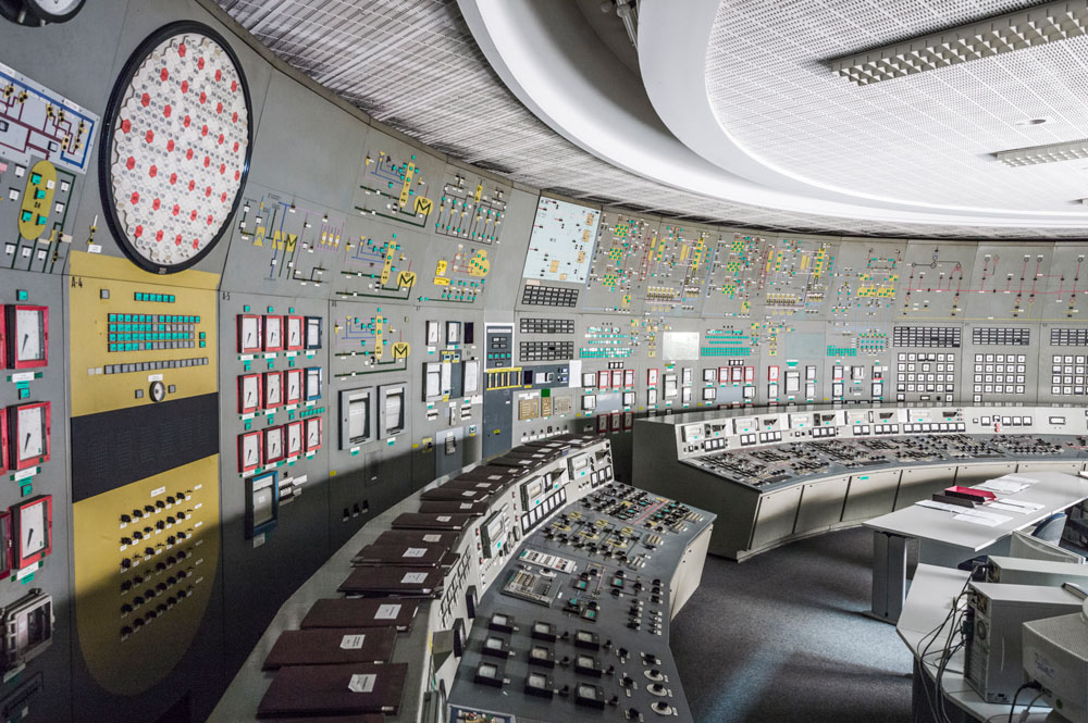 GERMANY COULD BE A MODEL FOR HOW WE'LL GET POWER IN THE FUTURE, NATIONAL GEOGRAPHIC MAGAZINE / GREIFSWALD NUCLEAR POWER PLANT CONTROL ROOM