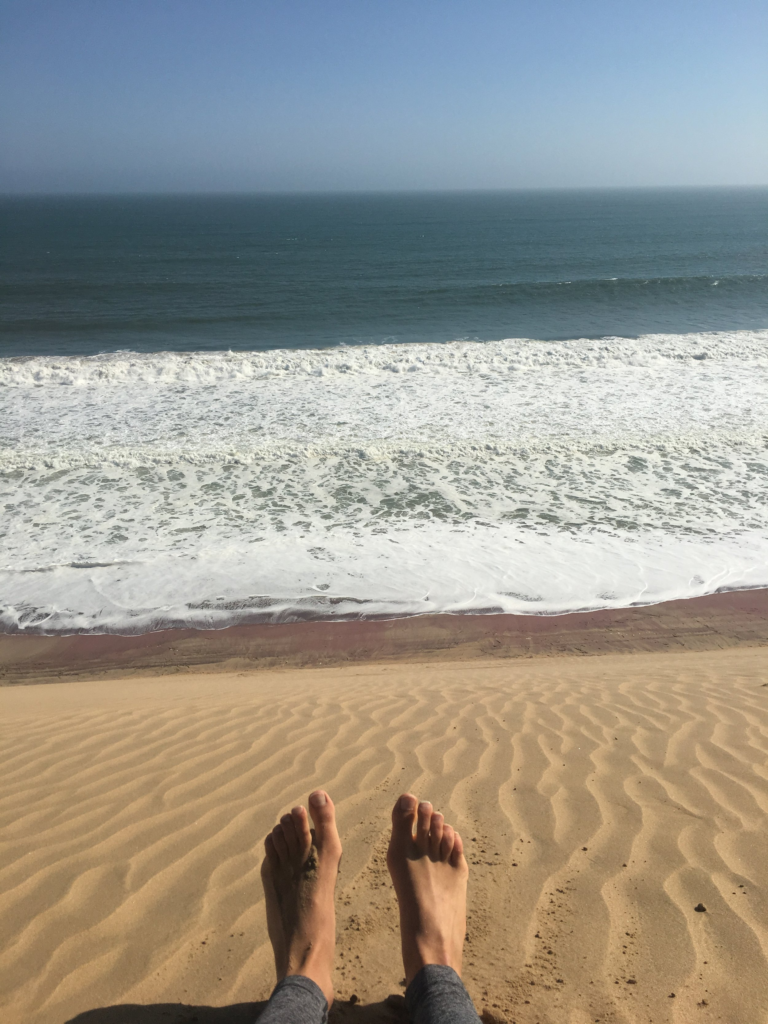 the Ocean is 200m below me...perspectives change drastically in the desert, which is why dune driving can be so dangerous
