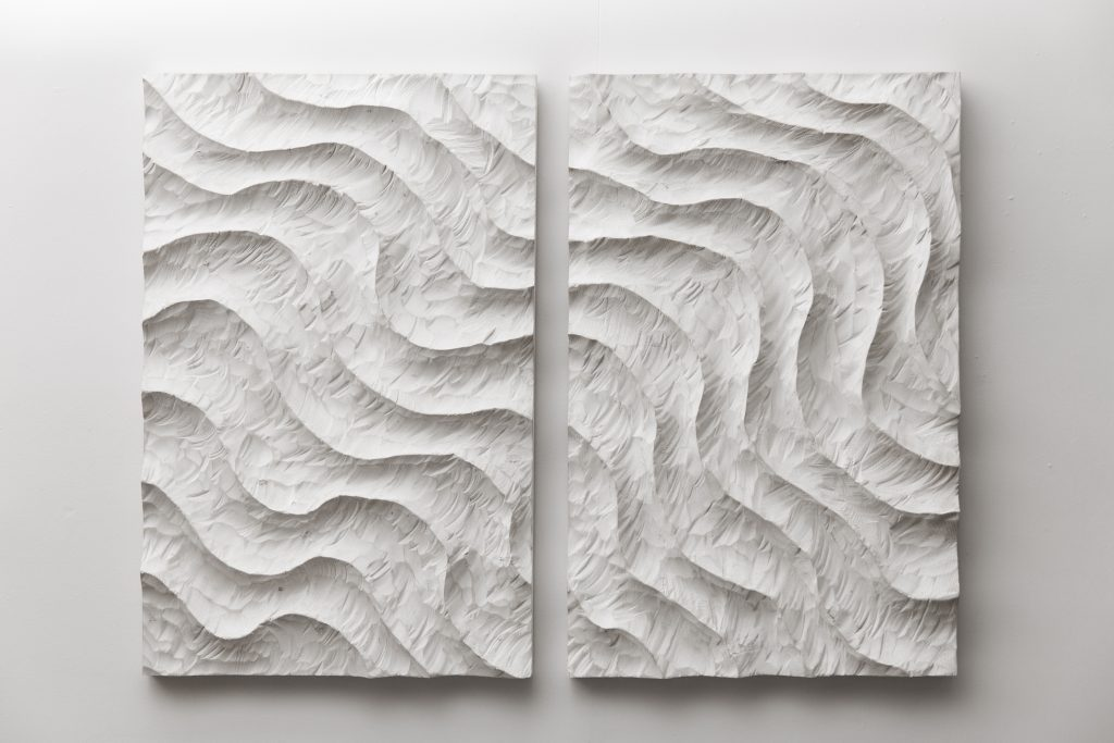 "White Wave  60""x45""x3"" | Wood Sculpture | Joe Graci"