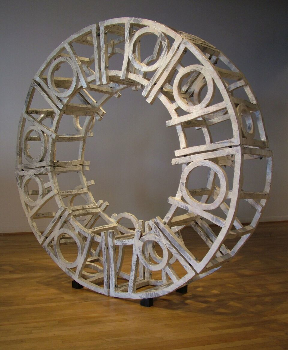 Wheel salt fired Porcelain   6' Dia.| Ceramic |Brandon Reese
