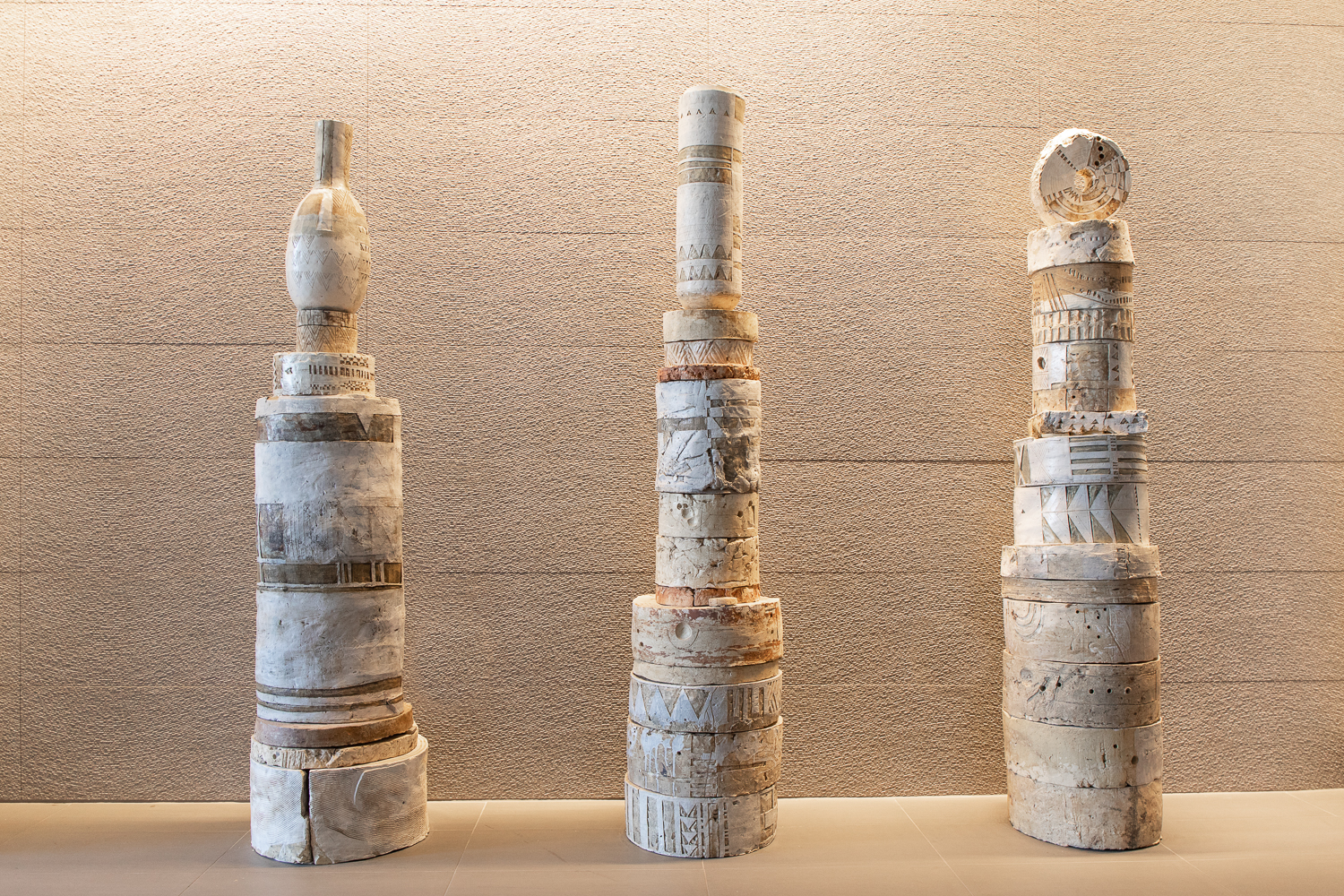 6' Clay Sculpture by Patricia Sannit