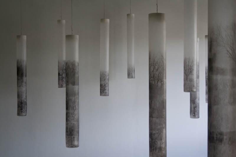 "Natural Mechanics  45"" x 5.5""   Blown Glass   Seth Fairweather"