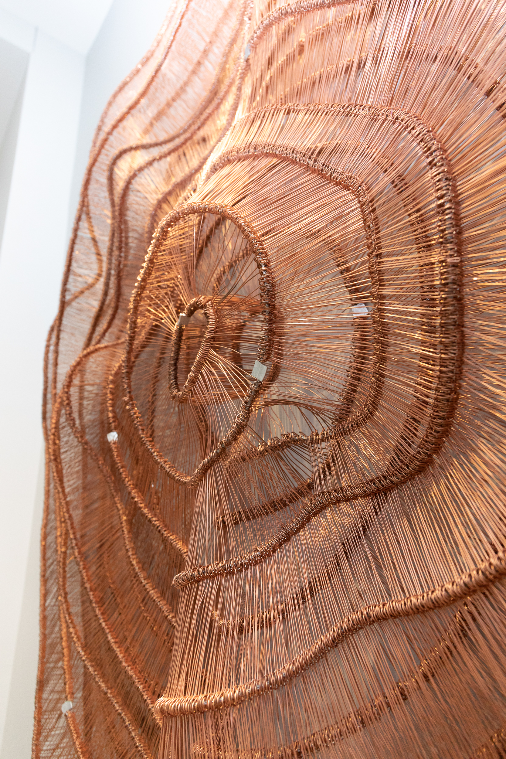 lose up of Copper Metal Sculpture by Eric Gushee