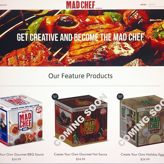 Get ready for our newest site launch for MAD CHEF! Stay tuned for more details! #madchef #crative #onlineshopping #new #prototype #webdesign #website #getmadchef #diy #creative #food #cooking #doityourself #design #springfieldmo