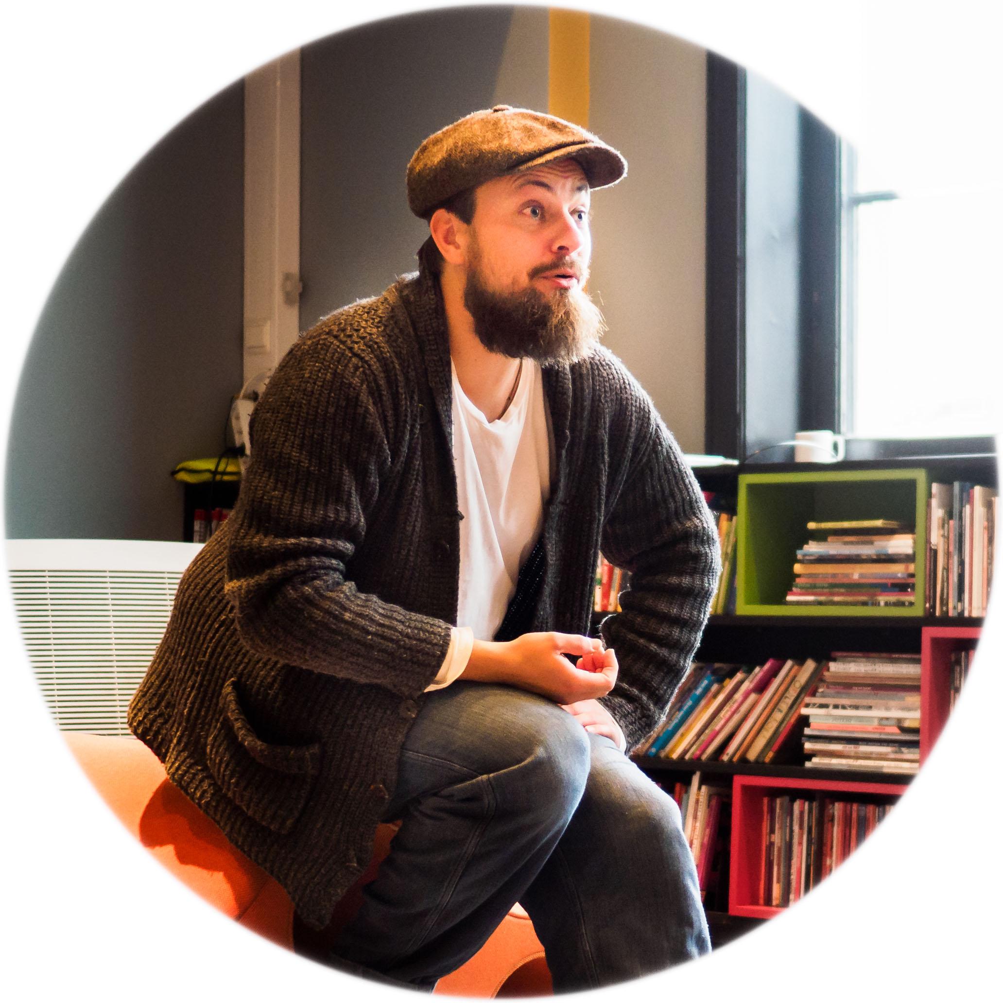 Alf Martin Lie på Litteraturhuset i Oslo