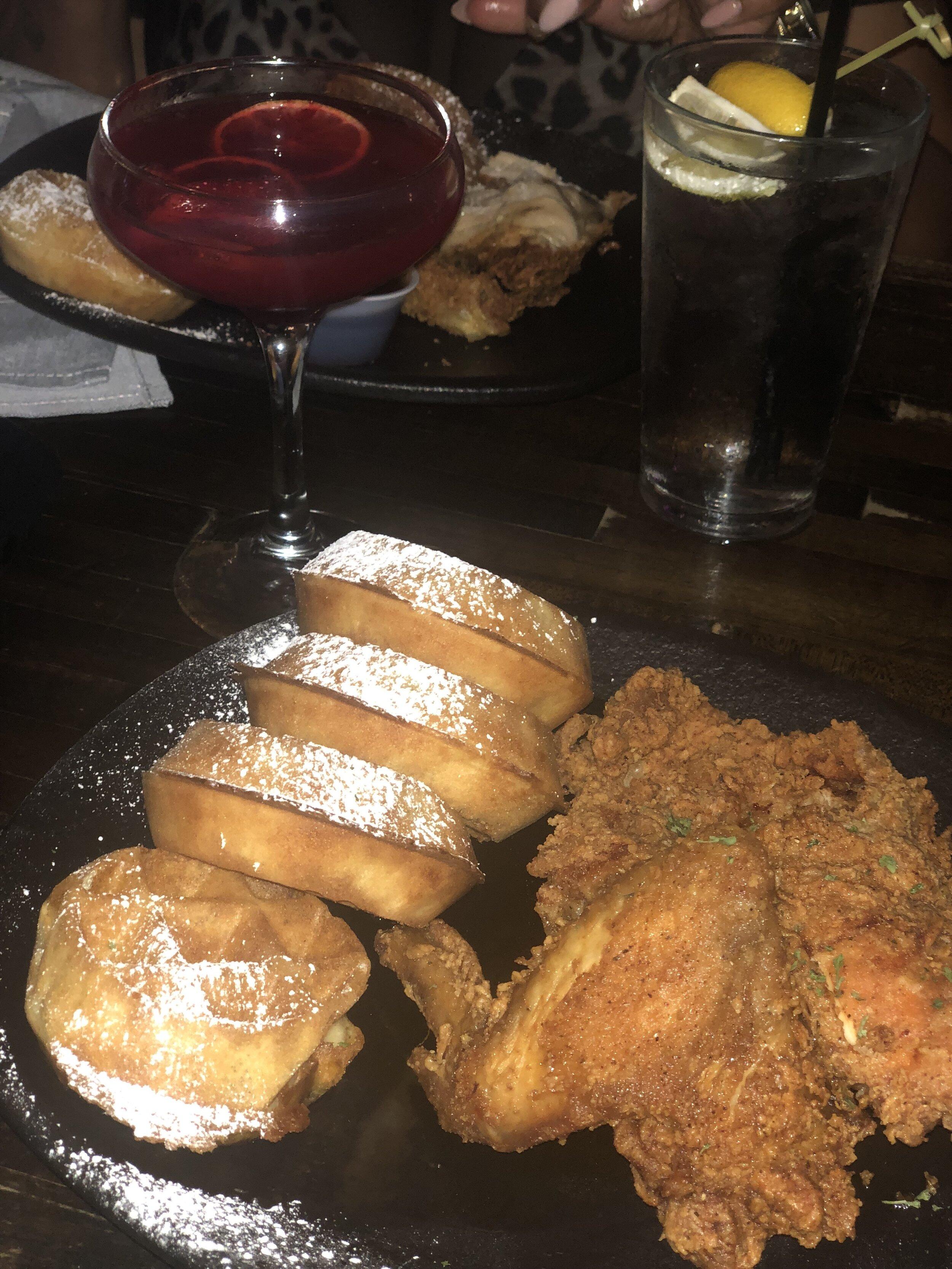 Cajun Chicken and Waffles