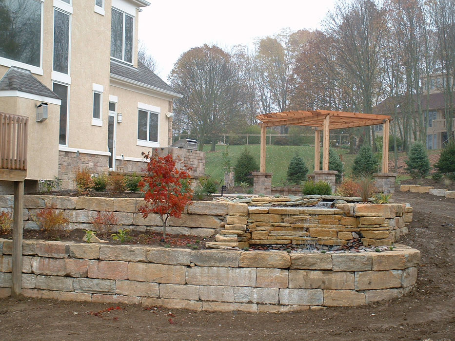 Deshpande Retaining Walls Rustic Bluff Benches