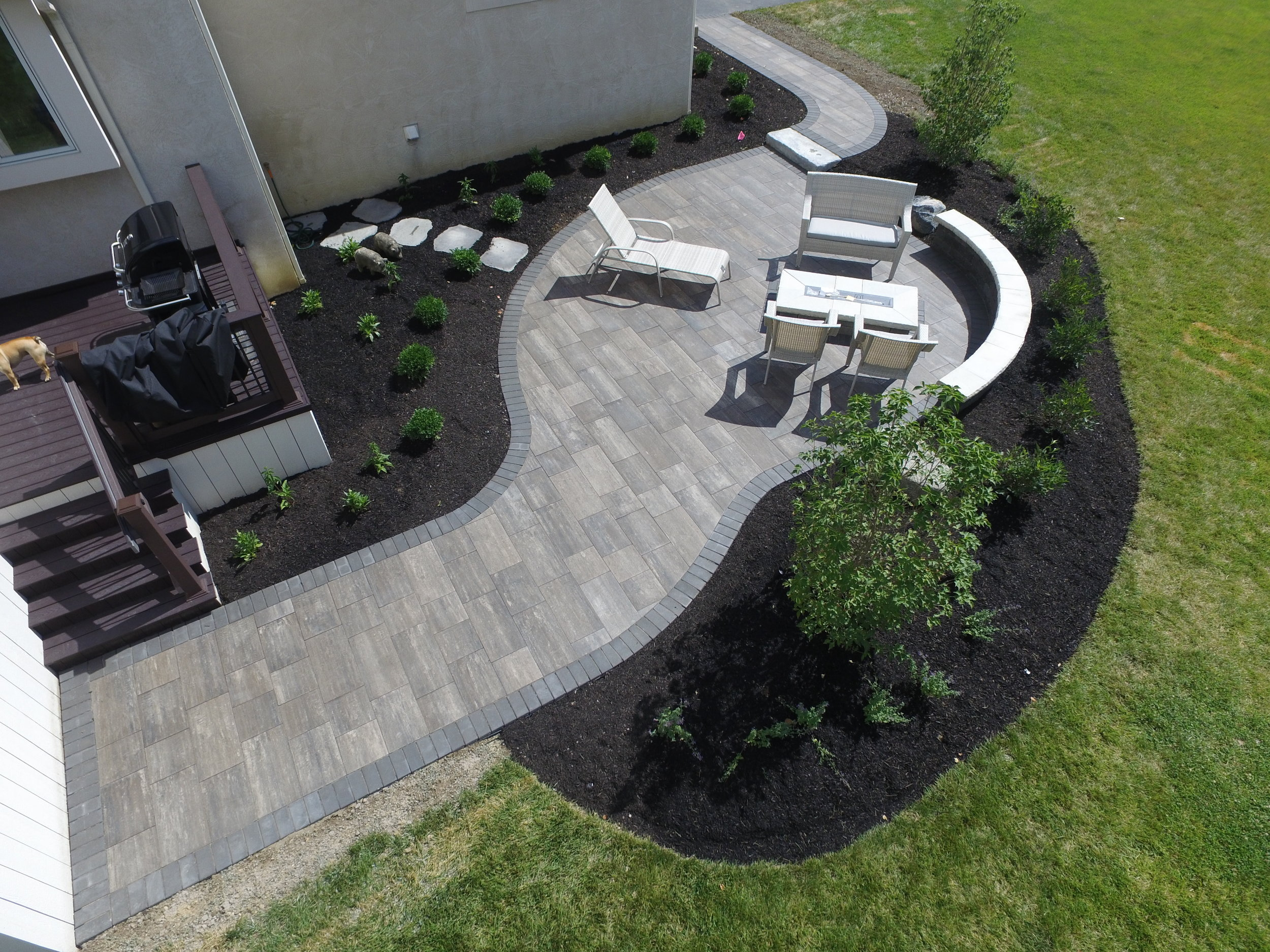 Orben Walkway from Driveway to Back Patio