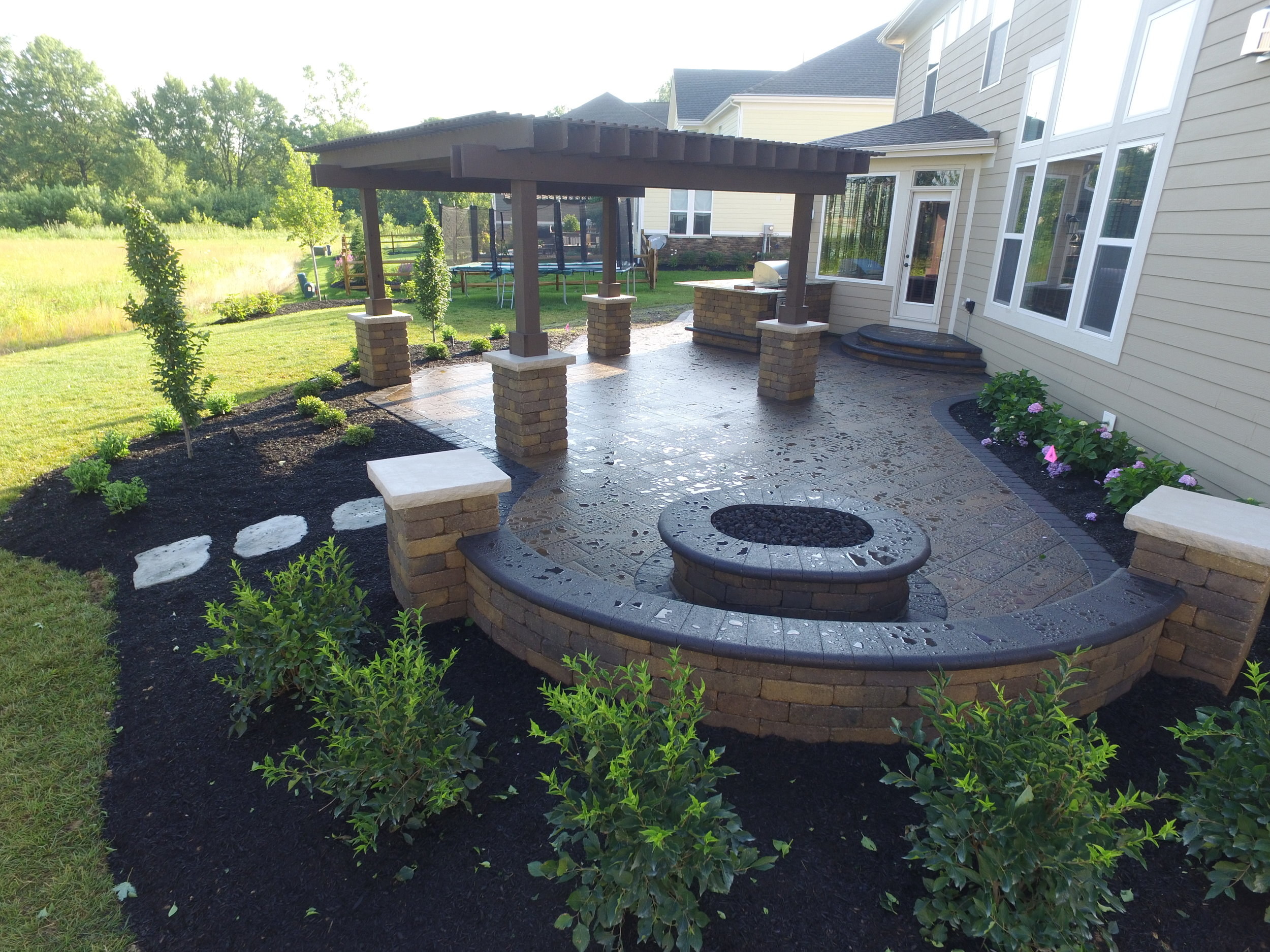 Lang Gas Oval Fire Pit