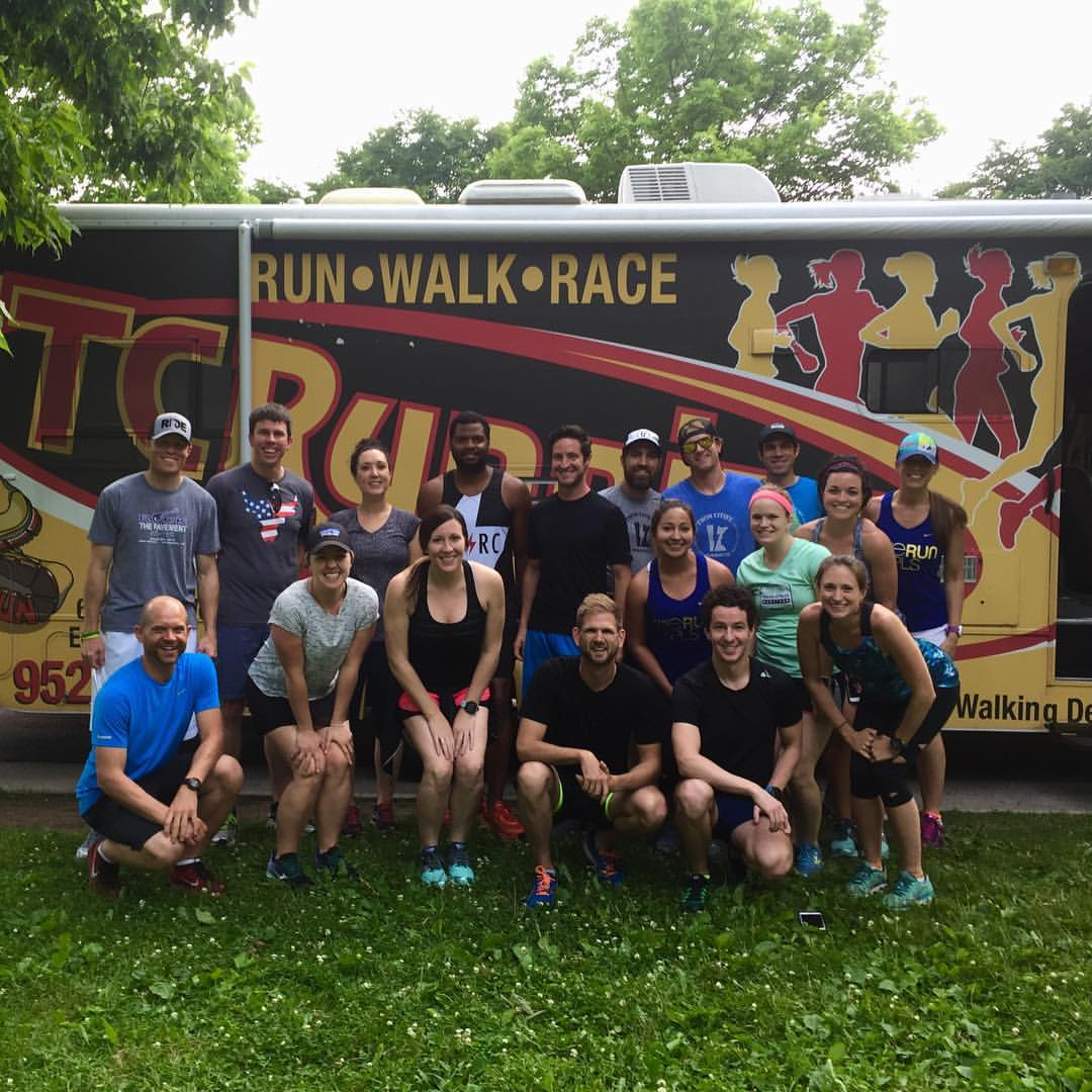 For our  June Wild Card Week #2 , we ran with TC Running Company out of their RV! Fun night!