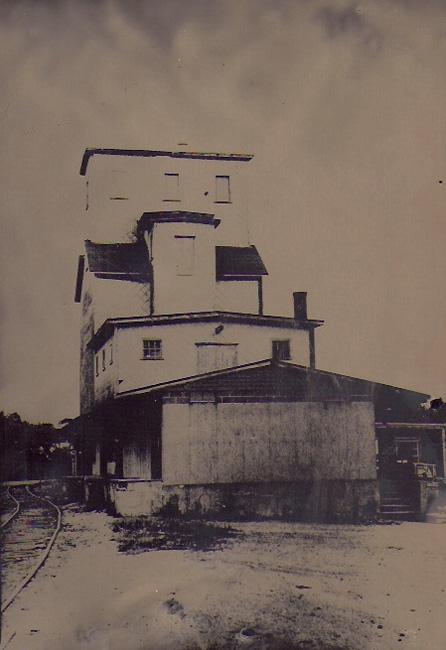 """Grain Elevator"" tintype 12"" x 15"""