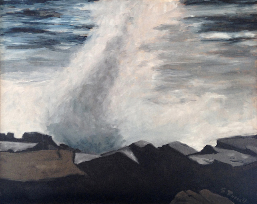 """""""Schoodic Remembered"""" oil on canvas  24"""" x 30"""""""