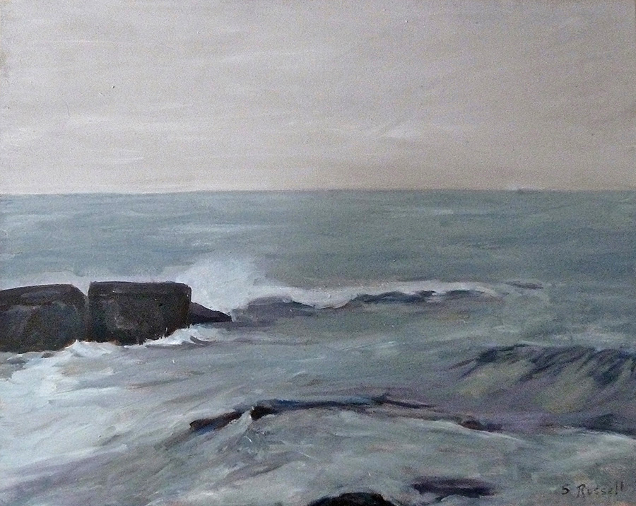 """""""Schoodic Remembered I"""" oil on canvas 24"""" x 30"""""""