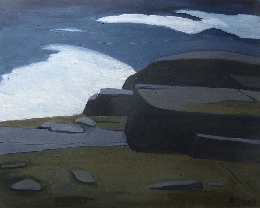 """""""Schoodic Point Imagined"""" oil on canvas 24"""" x 30"""""""