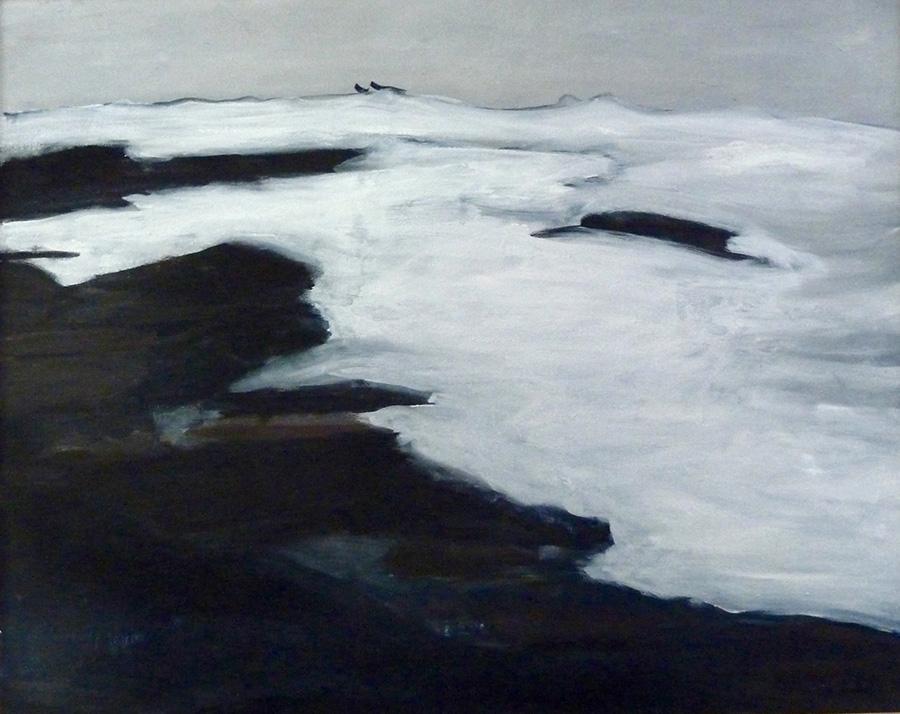 """Impression"" oil on canvas 24"" x 30"""
