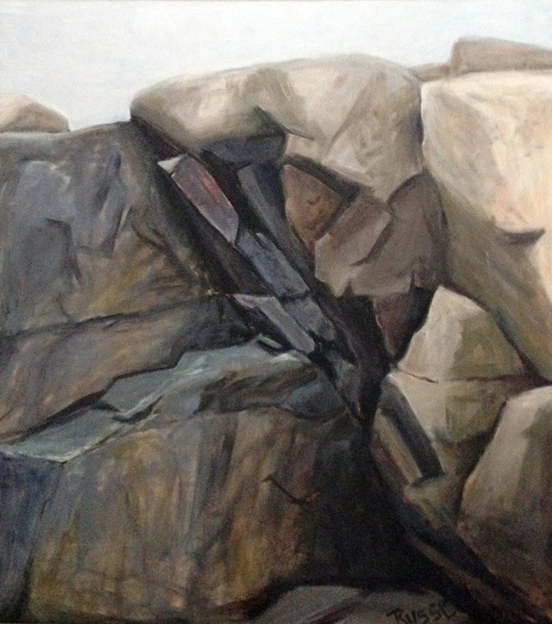 "Schoodic Point XI"" oil on canvas  41"" x 44 1/4"""
