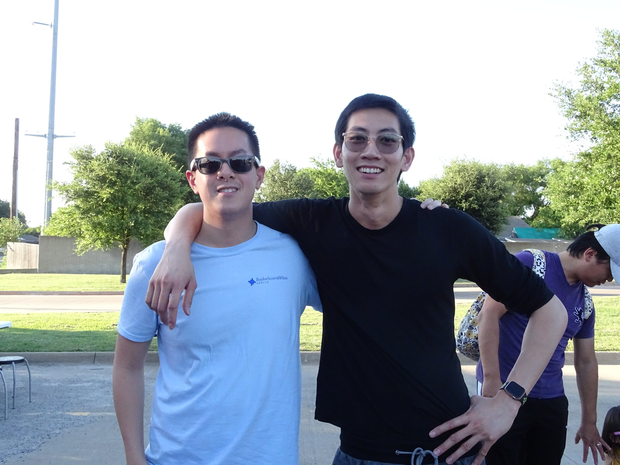 """""""I think there was an Ali Wong segment where she said we were 'jungle Asians.' You know, the Koreans. They're the 'pretty Asians' and then you have us. It's comedy, I get it, but sometimes I think that people are actually going to start seeing and believing it."""" - Alex Dinh, 29 (left)  """"Yeah, we're not all jungle Asians. Our culture is very family-oriented. There's actually a lot of shame surrounding divorce and pressure to keep the generational structure together. That's changing with the new generation though, and we're starting to prioritize our happiness."""" - Jay Tran, 29 (right)"""