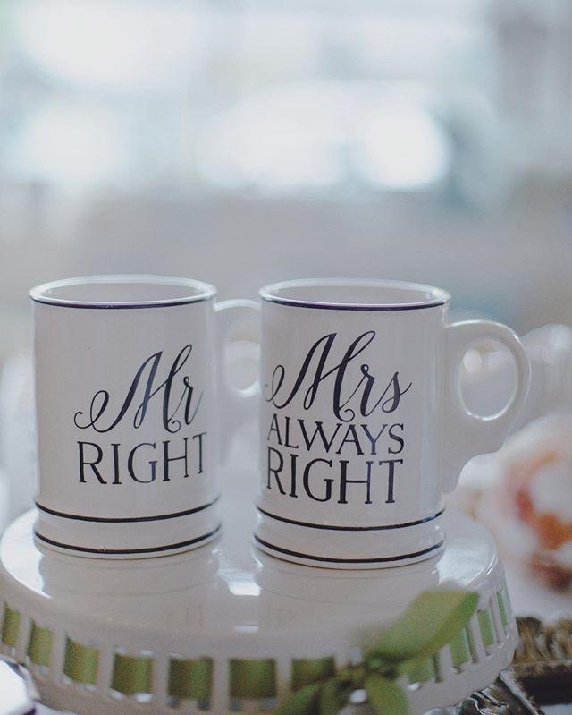 💗☕️☕️💗 Mr Right & Mrs Always Right 😉👌🏽 #museroom #kailua #valentines
