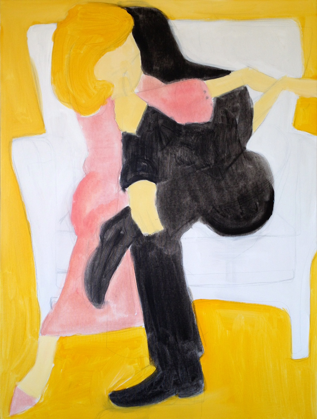 Title:Los # 1  Medium:acrylic and graphite on canvas  Size:48 x 36 x 4 inches  Year:2013