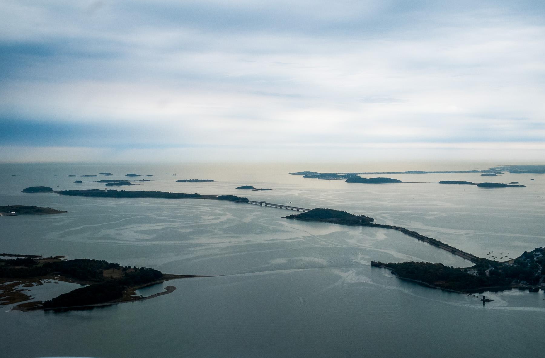 Departing BOS: Boston Harbor