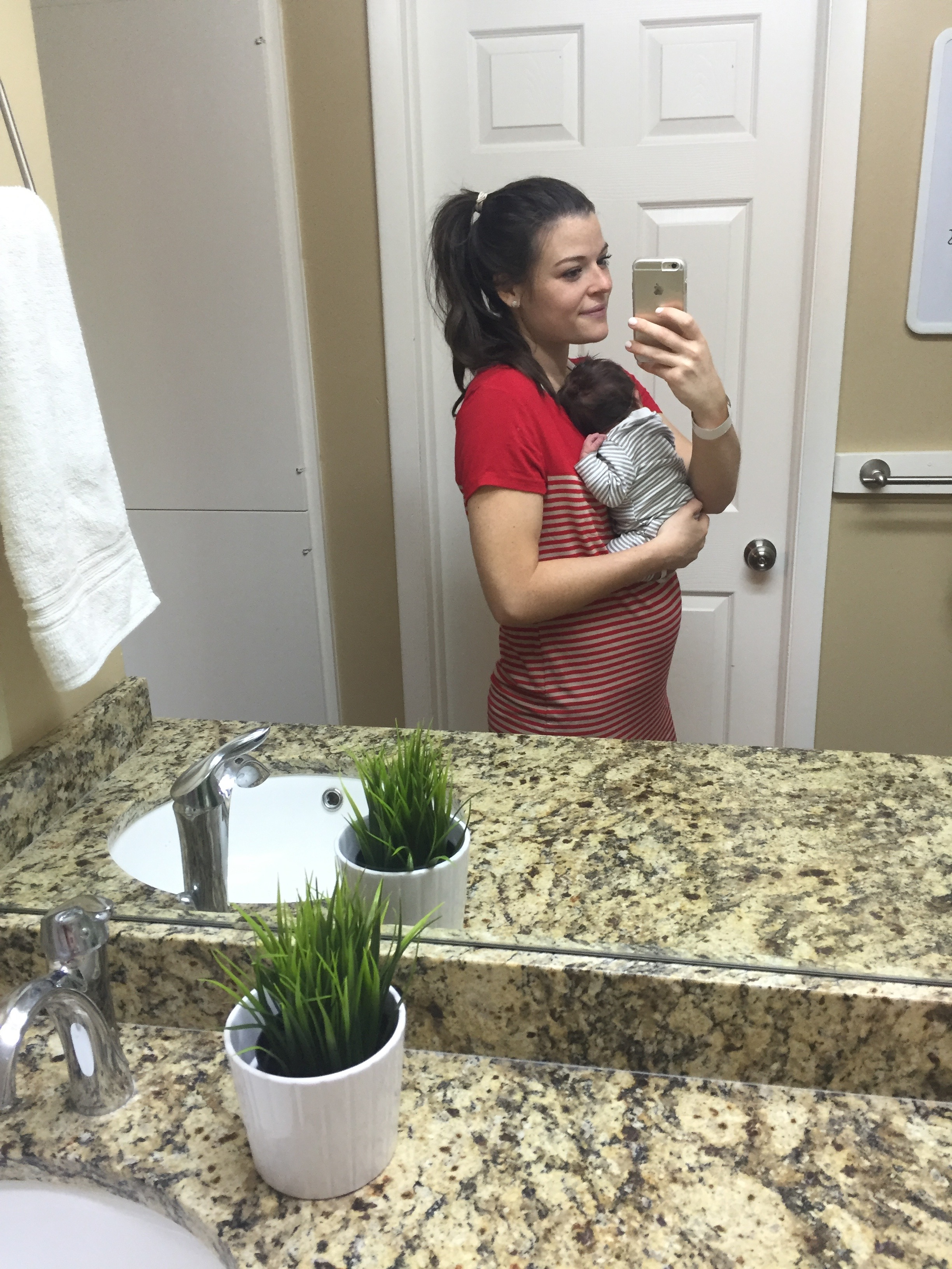 Right when we got home from the hospital -- 2 days postpartum