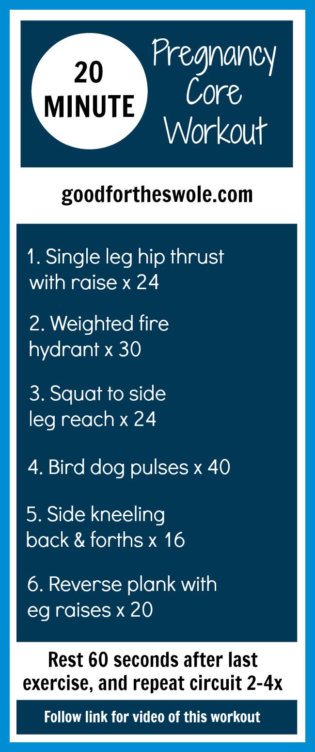 Safe Pregnancy Core Workout || goodfortheswole.com