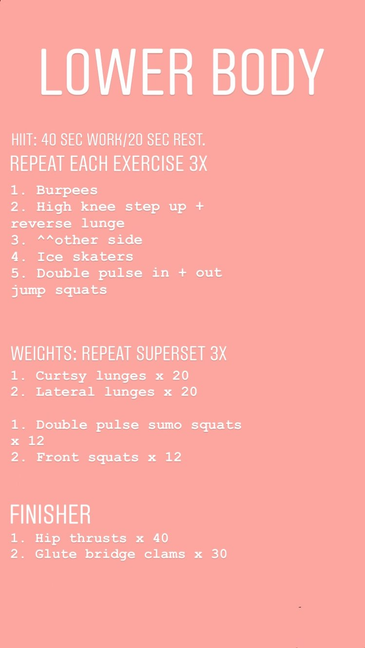 A Weeks Of Workouts