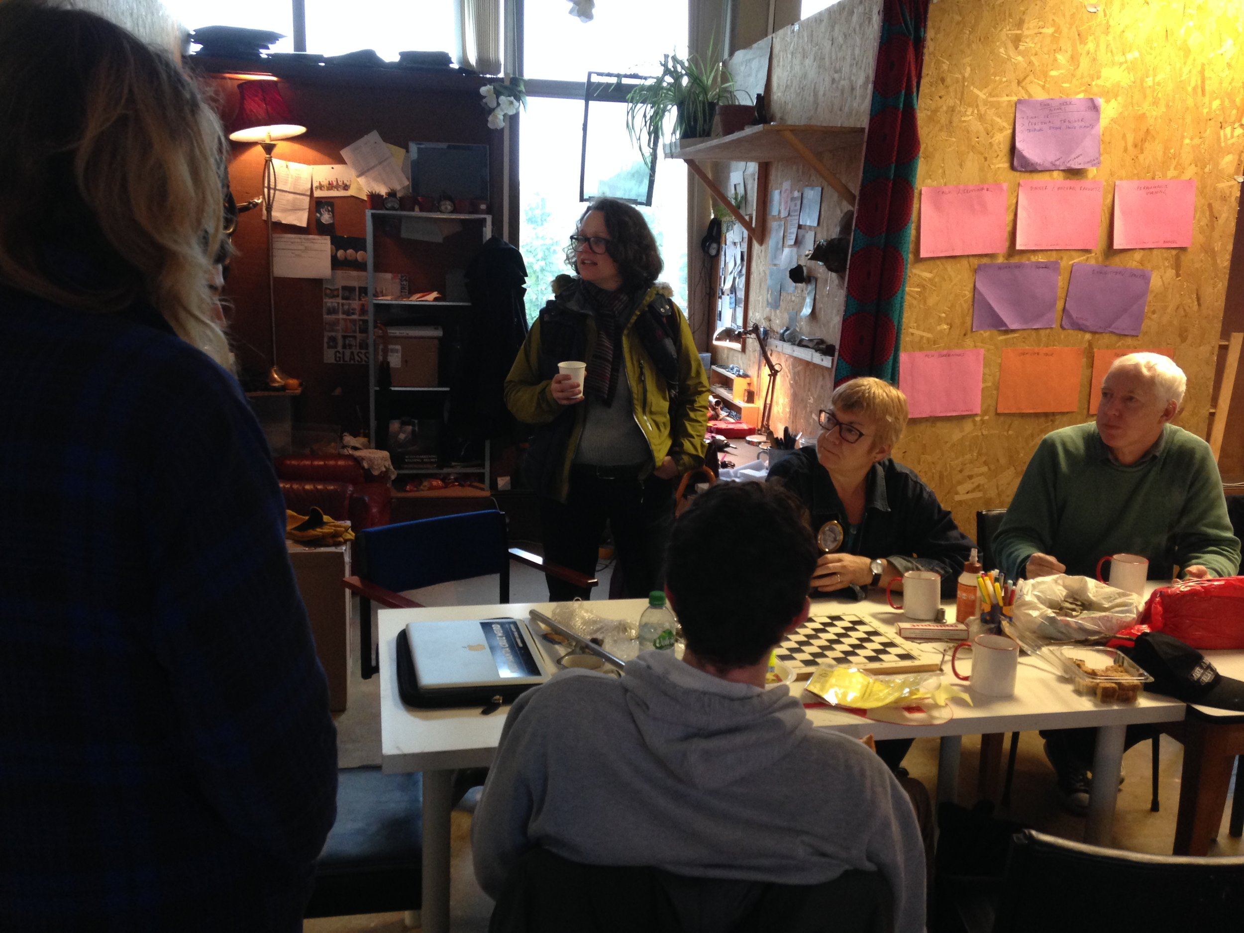TOMA  artists visiting  Open School East  in 2016.