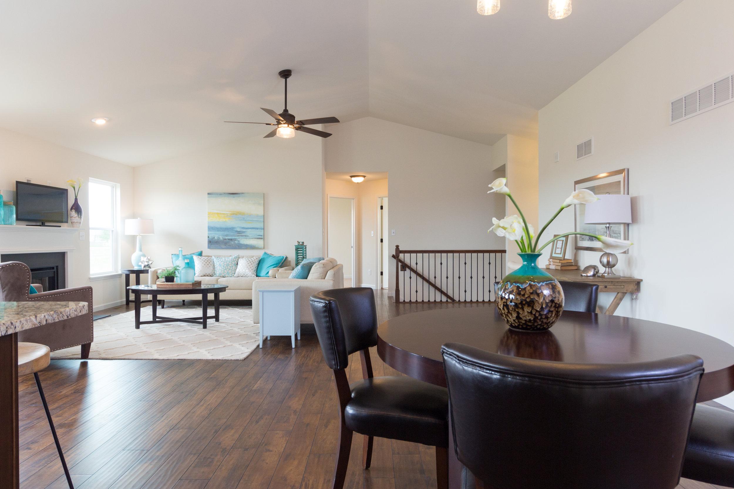 interior open floor plan new home