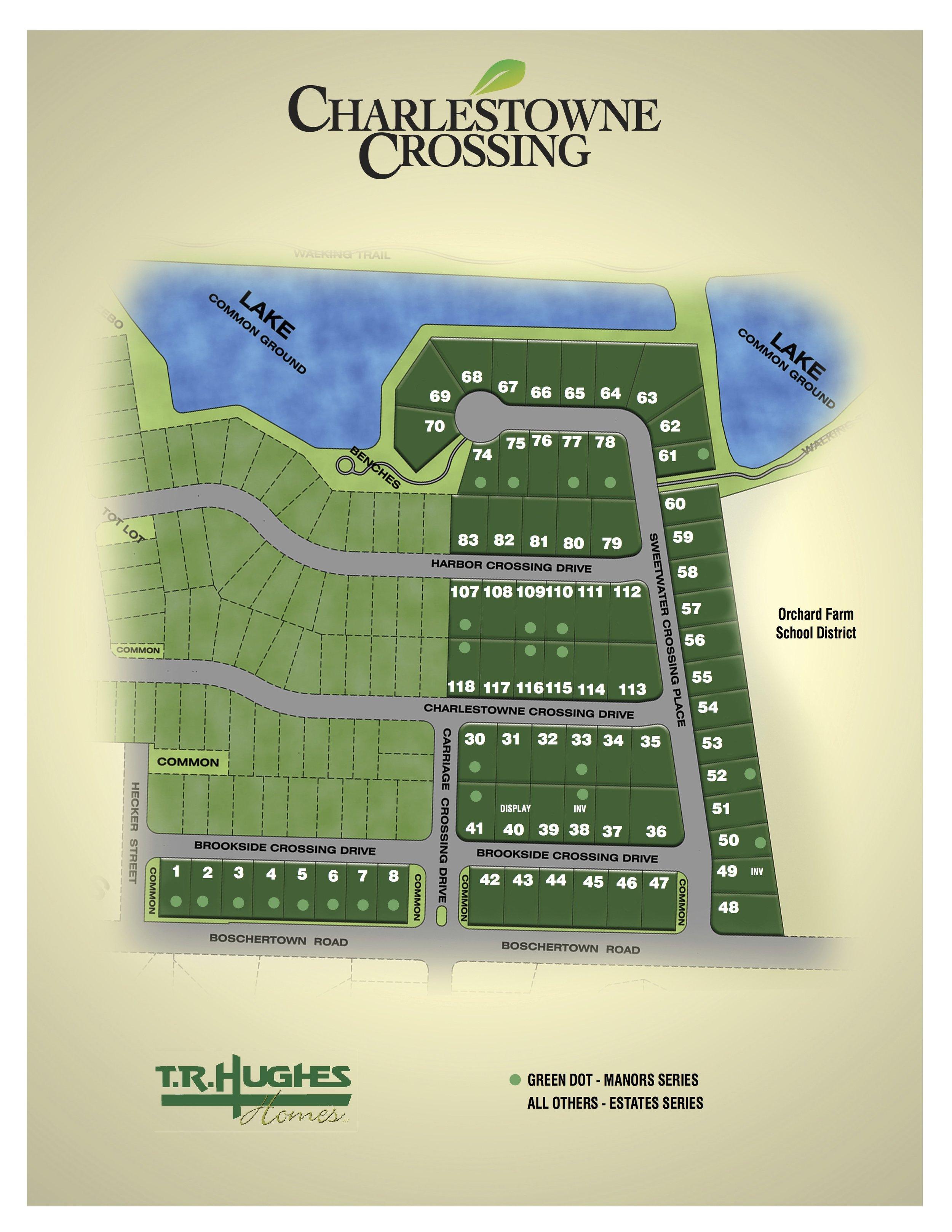 Charlestowne Crossing Plat Map