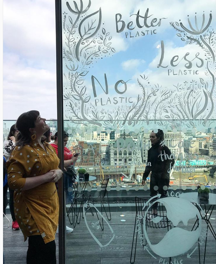 window painting live illustration london katie chappell Dove.png