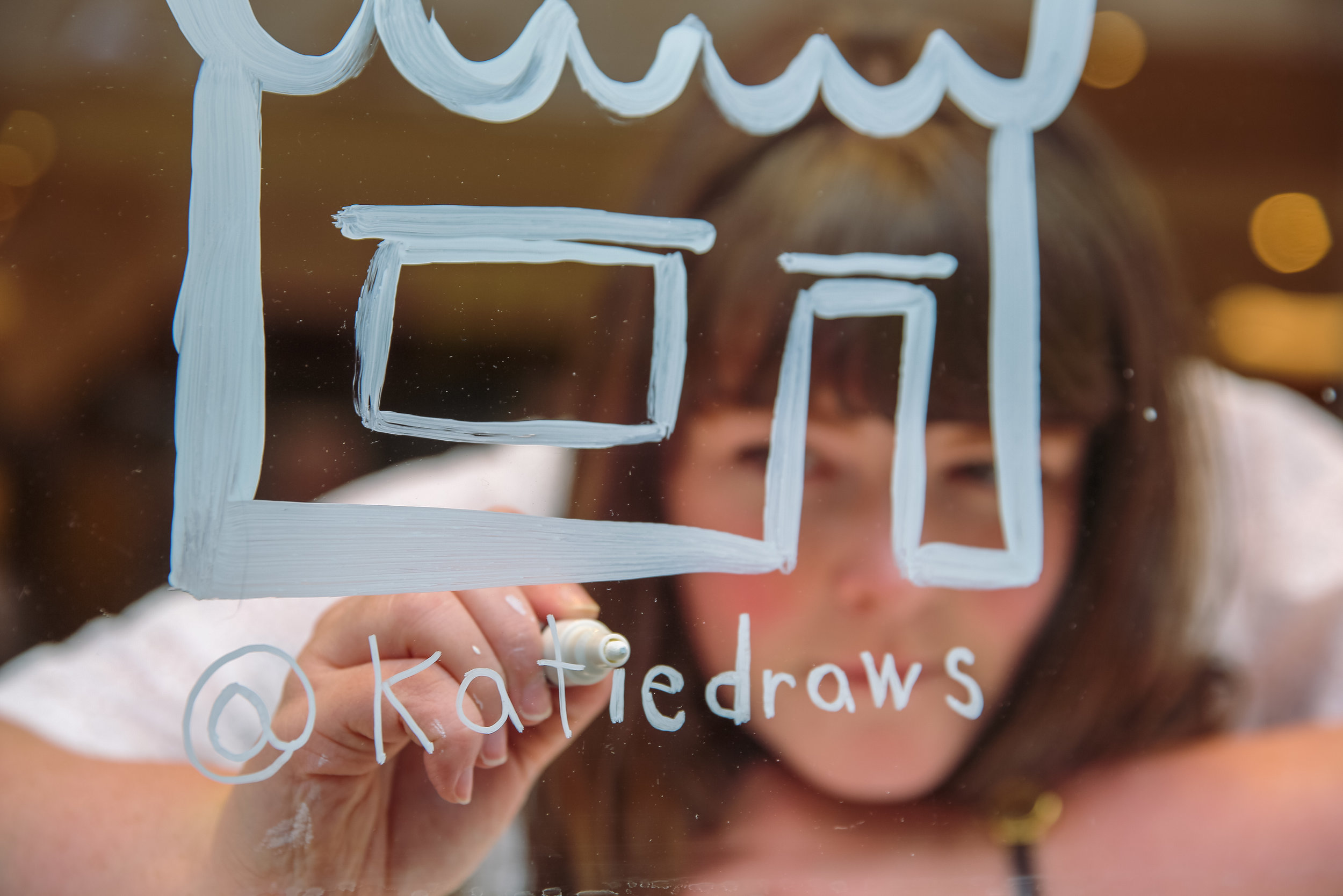 environmentally friendly brand experience live illustration drawing window painting