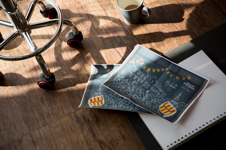Digital mockups and my one true love, coffee.