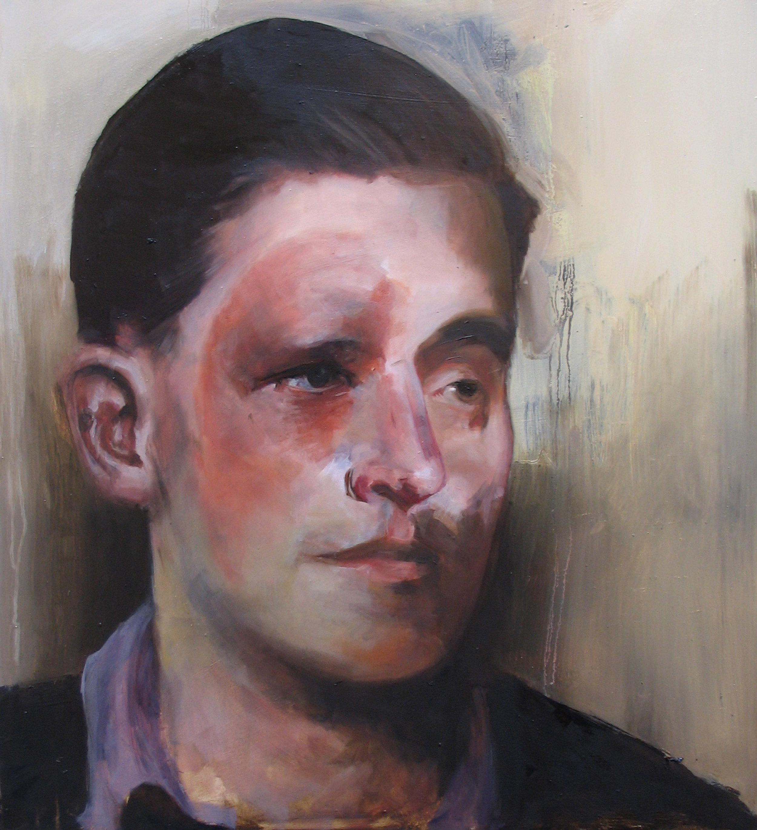 'Robert Manners', 2008, Oil on Board, 55 x 50cm. Image courtesy the artist.