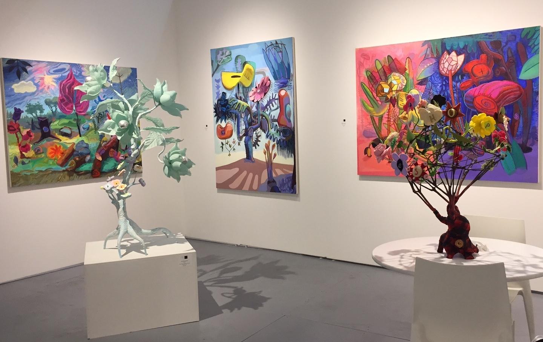 Black & White Gallery Booth featuring Joanne Carson at PULSE Art Fair | Miami Beach 2017