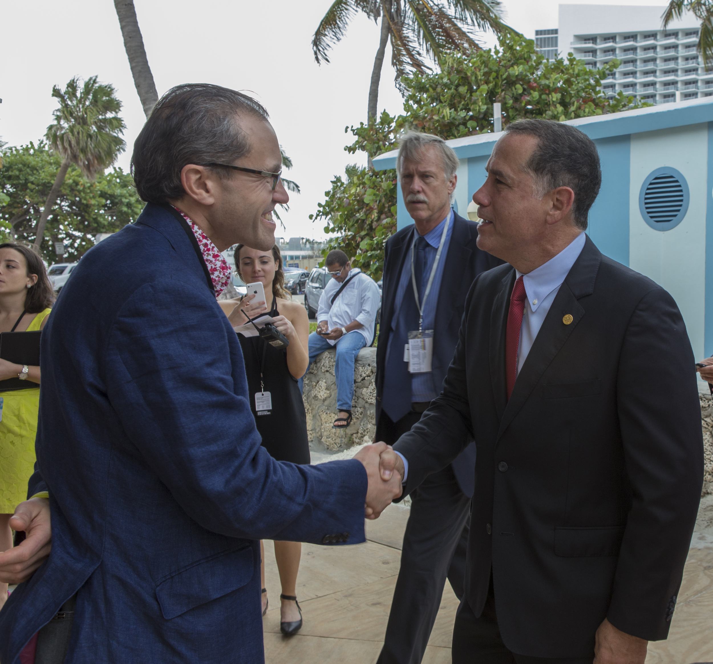 Will Ramsay with Miami Beach Mayor, Philip Levine.