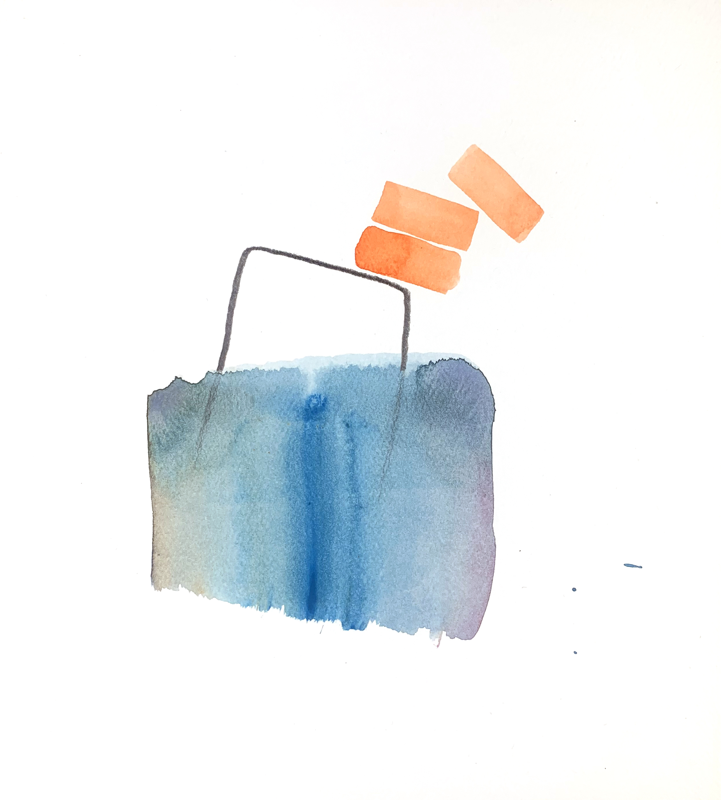 Wesley Berg, Untitled, 2019, Gouache and graphite on paper, 7 x 7in.