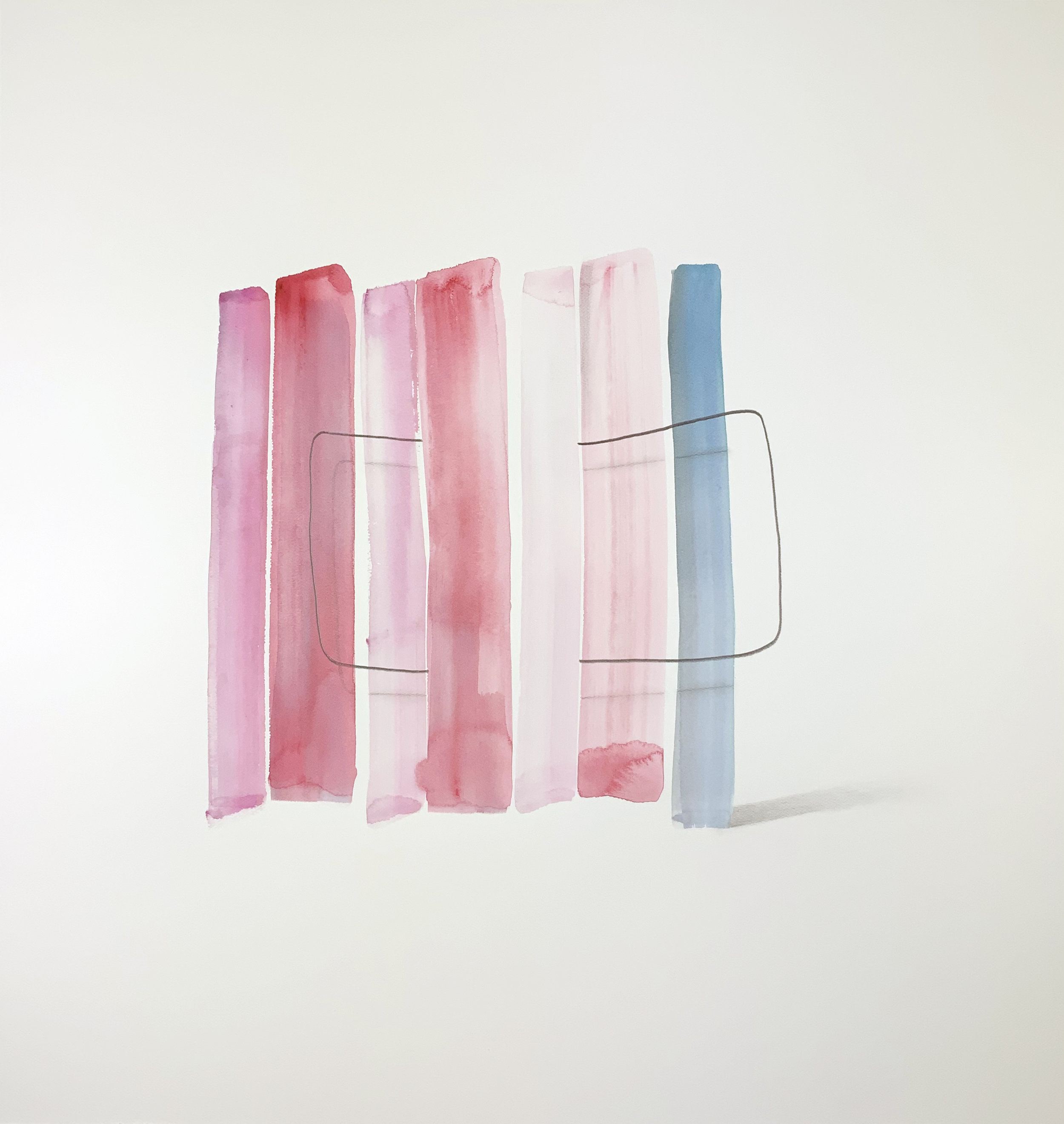 Wesley Berg, Untitled, 2019, Gouache and graphite on paper, 23 x 22in.