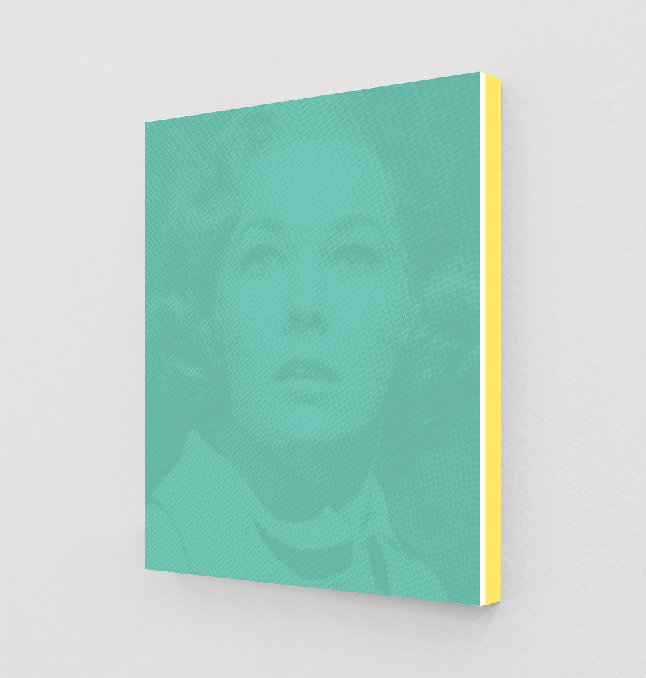 ClampArt_DanielHandal_Vera Miles as Lila (Verdigris)_2019_Two-Color-Screenprint, Painted Museum Box_19x15x1.5in_Edition of 3 + 2 APs_Price starts at 1800USD.jpg