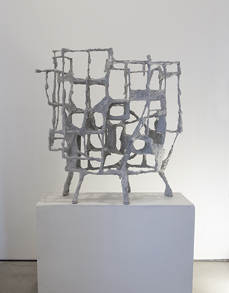 Lusk.  Kit Reuther %22#1466-3d%22 2019, paint & plaster over aluminum, 31x29x14%22, $5000 .jpg