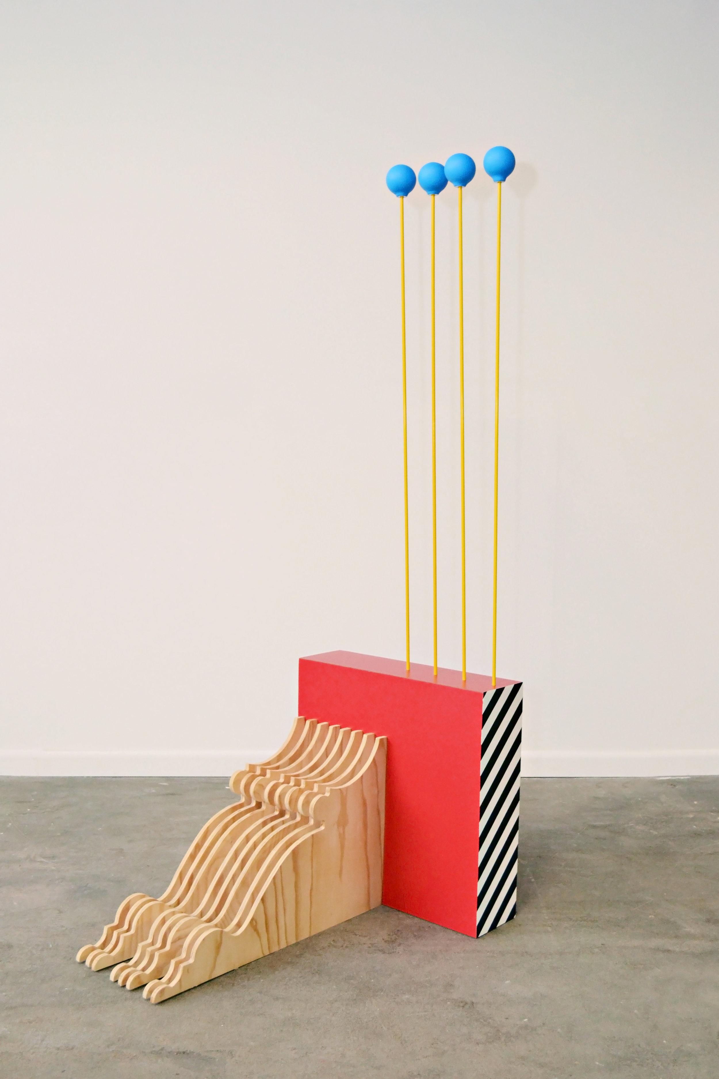 Kyle Bauer_Composition 864_2013_wood, Formica, slip cast porcelain, fiberglass, paint_72 x 42 x 42.jpg