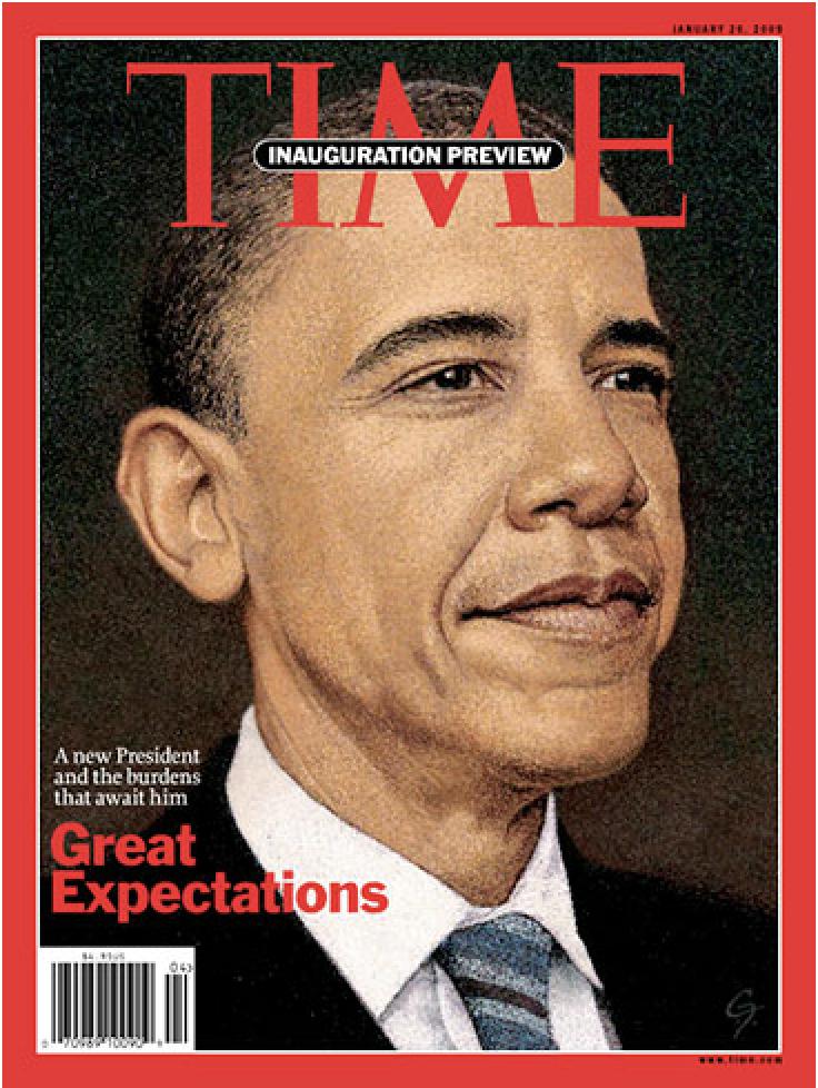 Hartford Art School Galleries_C. F. Payne_Pres. Obama Time Magazine_2016_Medium_Dimensions_Price in USD.png