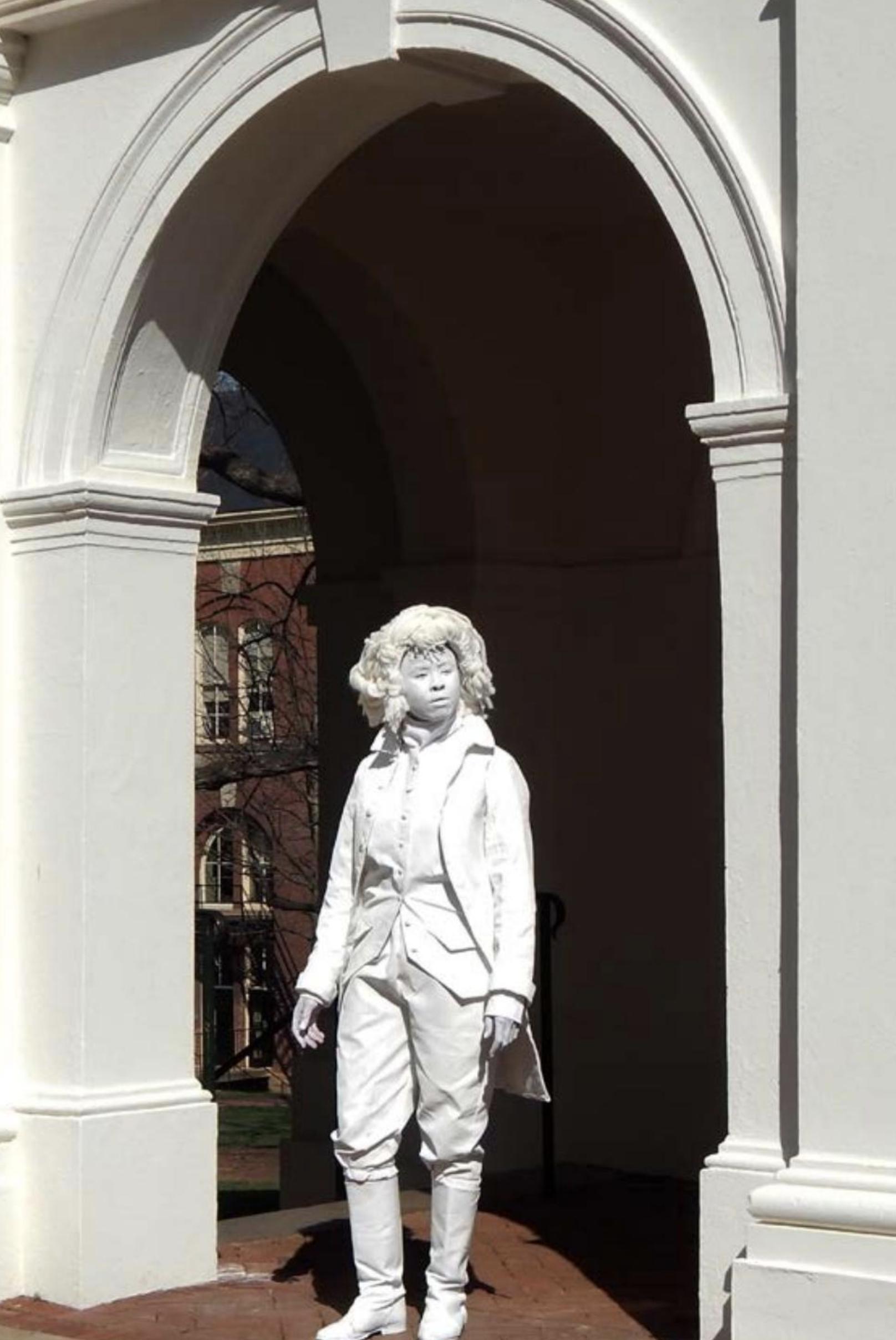 "Hartford Art School Galleries_Marisa Williamson_The Ghost of Thomas Jefferson2_2018_Performance documentation (digital prints)_8"" x 10""_Price in USD.png"