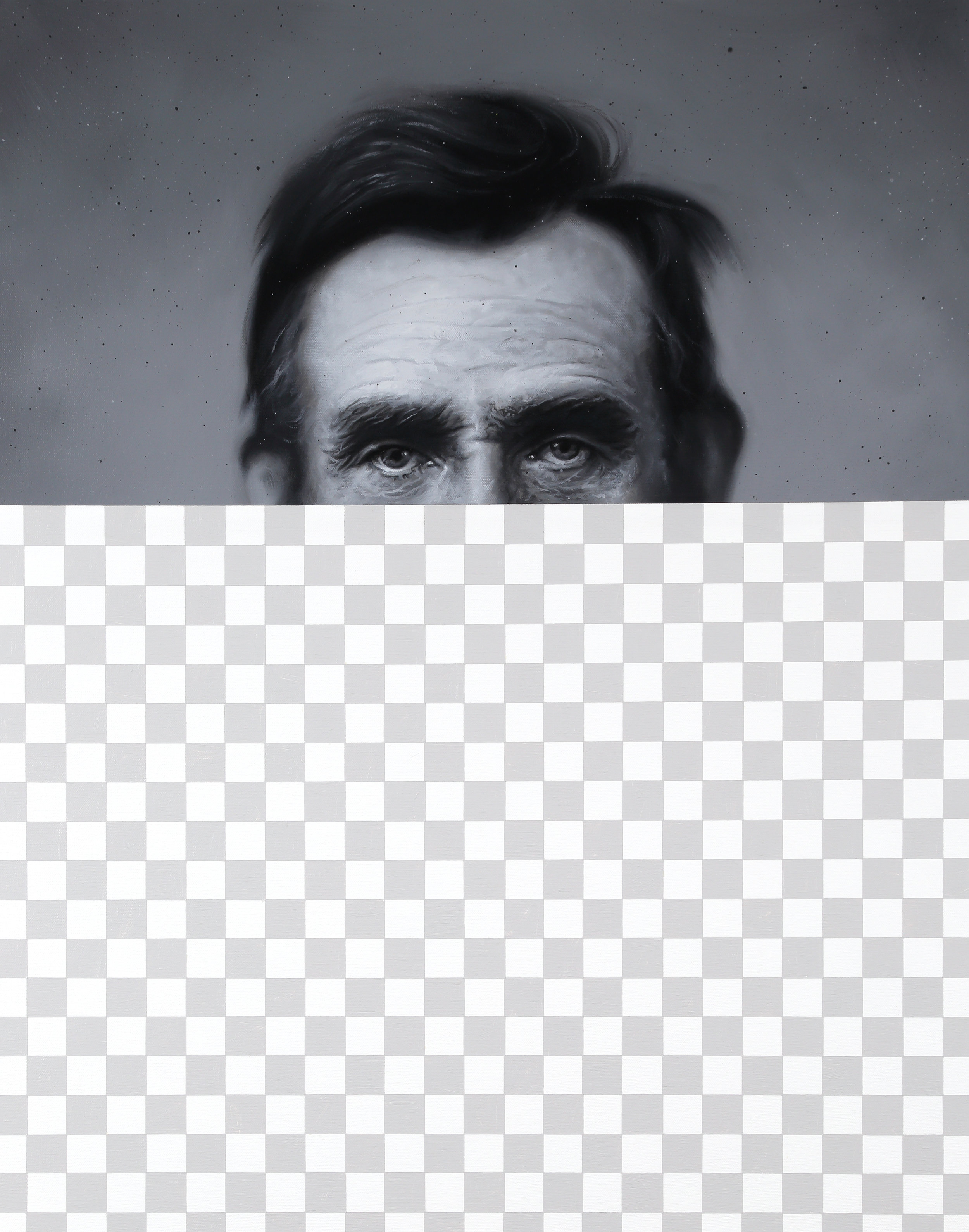 KContemporaryArt_Huckins_Swoon (Abraham Lincoln, Erasure No. 31)_2019_AcrylicOnCanvas_PRICE.jpg