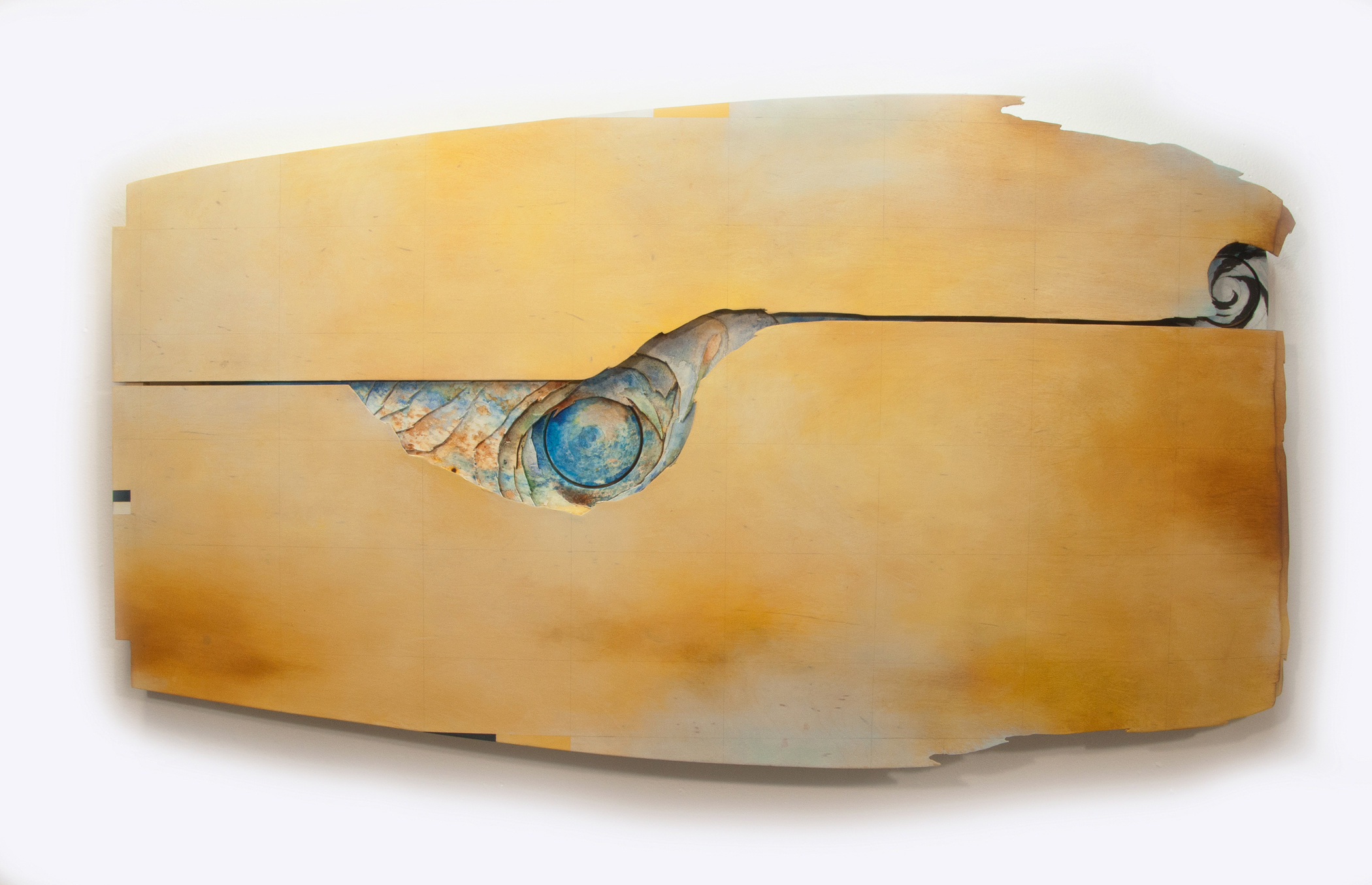Kolman & Pryor Gallery_Cameron Zebrun_Amber A_2018_oil and watercolor on wood_27 x 49 x 5 inches_�5700_.jpg