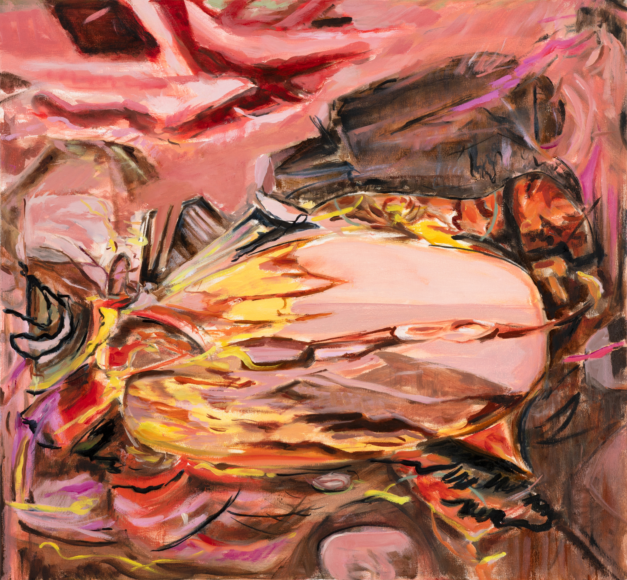 Kolman & Pryor Gallery_Jil Evans_Heart Bright Dark 3_2019_oil on canvas_30 x 32 inches_�2700.jpg