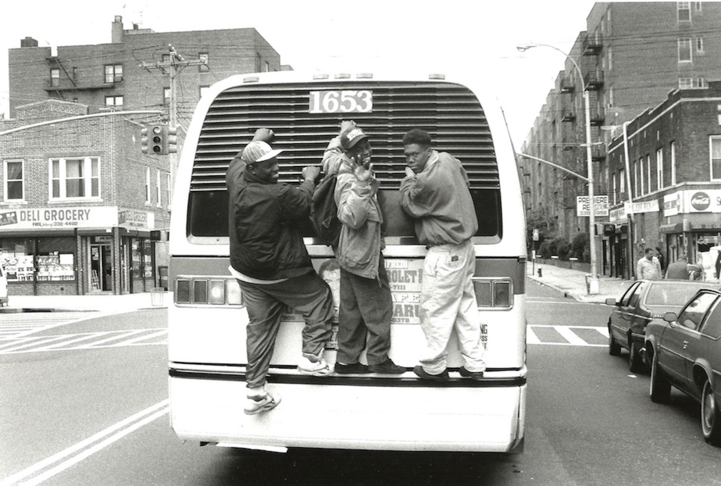 Jamel Shabazz, 'Joy Riding', 1988, Black & White Archival Print, 8 X 10 inches.jpg