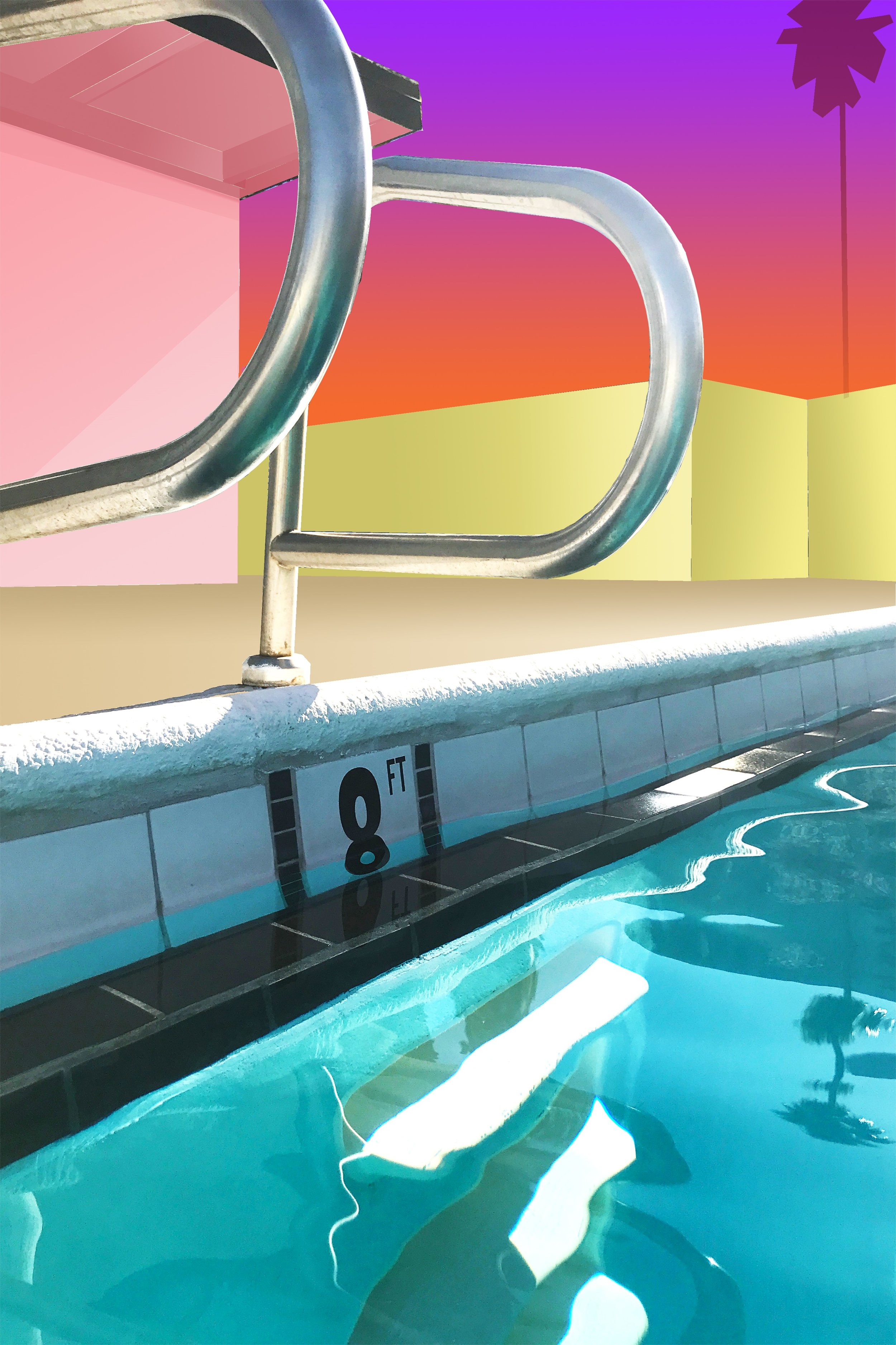 ROMAN FINE ART, Ciara Rafferty, Palm Springs IV, 2019, Oil on Perspex, 60x40 (hr).jpg