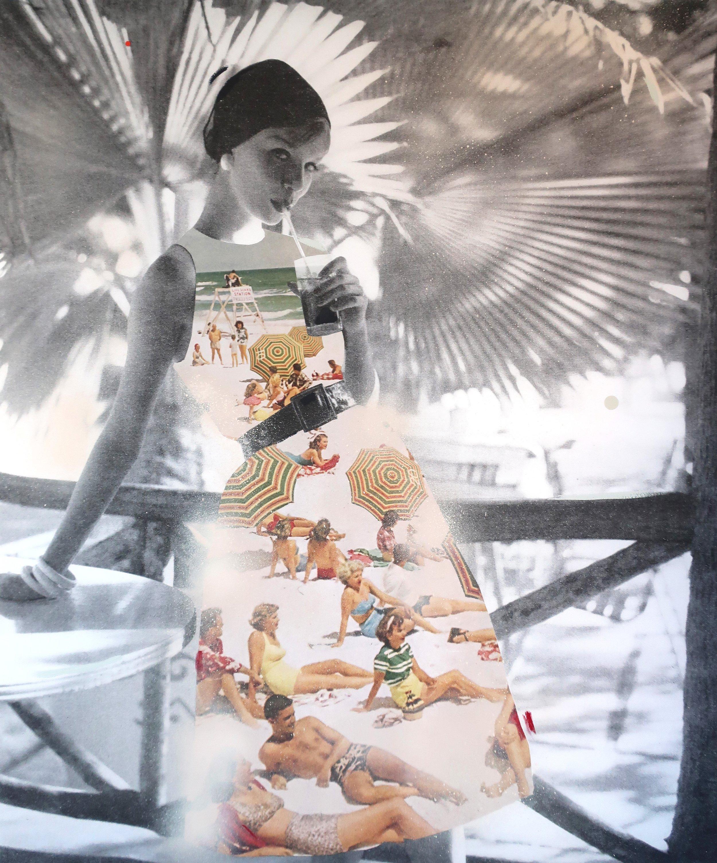 ROMAN FINE ART, Lizzie Gill, Summer Solstice II, 2019, Unigue hand embellished print on Hanemuhle paper, 40x35in.jpg