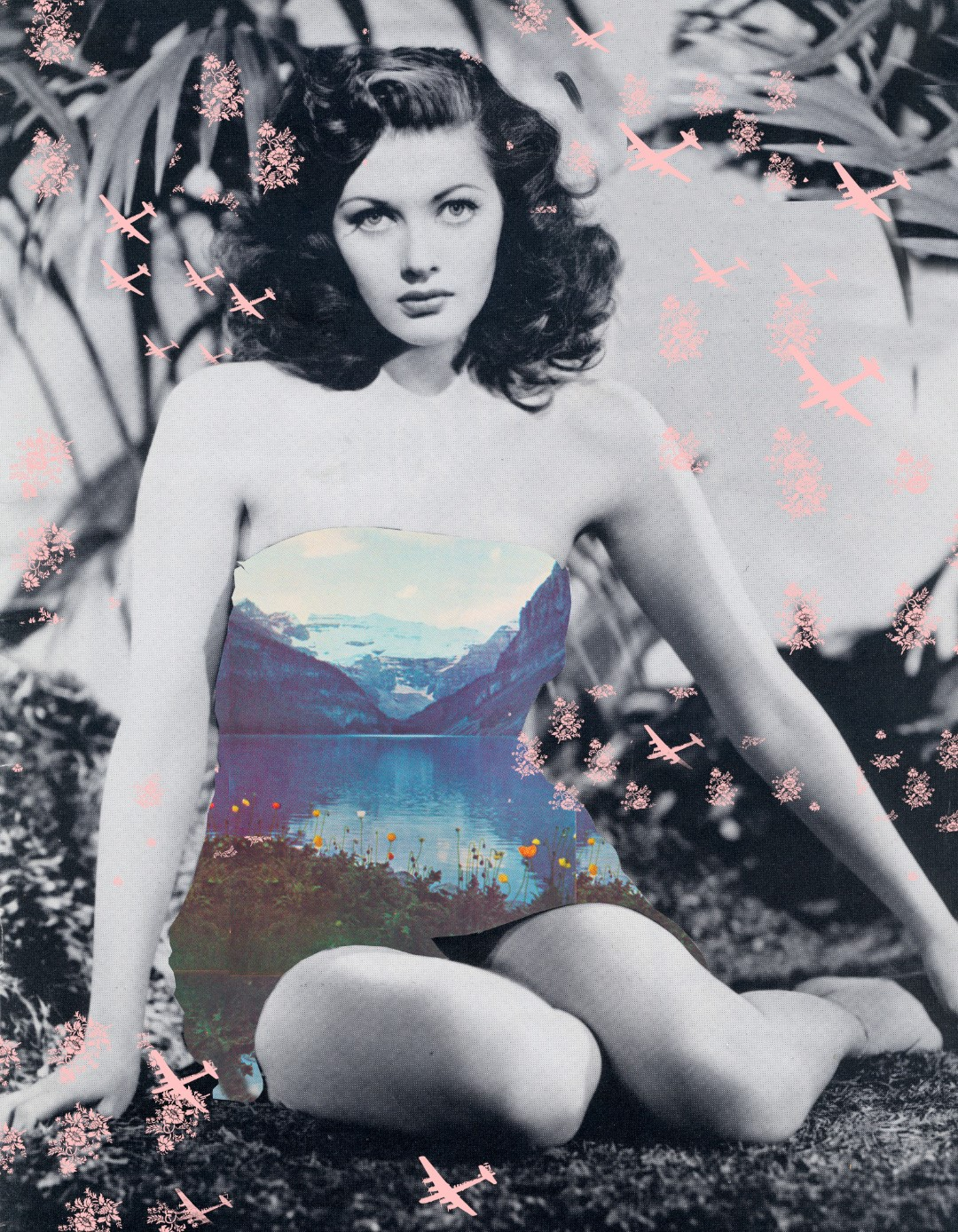 ROMAN FINE ART, Lizzie Gill, Echo Boom, 2019, Image transfer and acrylic on wood panel, 40x35in.jpg